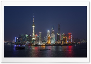 Shanghai China Skyline HD Wide Wallpaper for 4K UHD Widescreen desktop & smartphone