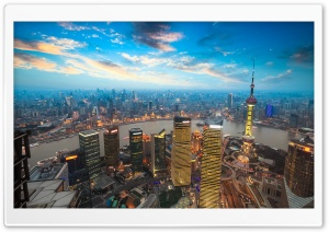 Shanghai Sunset HD Wide Wallpaper for Widescreen