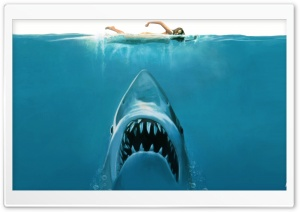Shark Attack Painting HD Wide Wallpaper for Widescreen