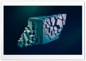 Shattered Abstract 3D Cube HD Wide Wallpaper for Widescreen