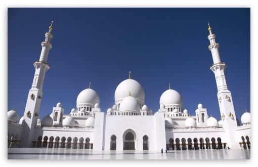 Sheikh Zayed Grand Mosque, Abu Dhabi, United Arab Emirates HD wallpaper for Wide 16:10 5:3 Widescreen WHXGA WQXGA WUXGA WXGA WGA ; HD 16:9 High Definition WQHD QWXGA 1080p 900p 720p QHD nHD ; Standard 4:3 3:2 Fullscreen UXGA XGA SVGA DVGA HVGA HQVGA devices ( Apple PowerBook G4 iPhone 4 3G 3GS iPod Touch ) ; iPad 1/2/Mini ; Mobile 4:3 5:3 3:2 16:9 - UXGA XGA SVGA WGA DVGA HVGA HQVGA devices ( Apple PowerBook G4 iPhone 4 3G 3GS iPod Touch ) WQHD QWXGA 1080p 900p 720p QHD nHD ;