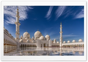Sheikh Zayed Mosque in Abu Dhabi, United Arab Emirates HD Wide Wallpaper for 4K UHD Widescreen desktop & smartphone