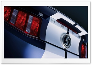 Shelby Rear Lights HD Wide Wallpaper for Widescreen