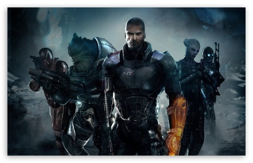Download Shepard & his Team UltraHD Wallpaper
