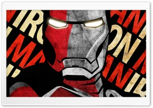 Shepard Fairey Iron Man Poster by IfDeathInspired HD Wide Wallpaper for 4K UHD Widescreen desktop & smartphone
