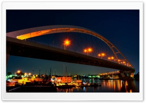 Shin Hamadera Bridge HD Wide Wallpaper for Widescreen