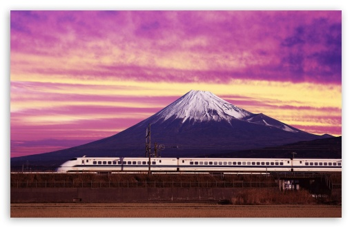 Shinkansen Bullet Train and Mount Fuji Japan HD wallpaper for Wide 16:10 5:3 Widescreen WHXGA WQXGA WUXGA WXGA WGA ; HD 16:9 High Definition WQHD QWXGA 1080p 900p 720p QHD nHD ; Standard 4:3 3:2 Fullscreen UXGA XGA SVGA DVGA HVGA HQVGA devices ( Apple PowerBook G4 iPhone 4 3G 3GS iPod Touch ) ; iPad 1/2/Mini ; Mobile 4:3 5:3 3:2 16:9 - UXGA XGA SVGA WGA DVGA HVGA HQVGA devices ( Apple PowerBook G4 iPhone 4 3G 3GS iPod Touch ) WQHD QWXGA 1080p 900p 720p QHD nHD ;