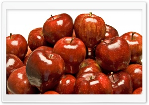 Shiny Red Apples HD Wide Wallpaper for Widescreen