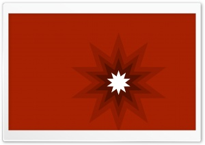 Shiny Red Star HD Wide Wallpaper for Widescreen