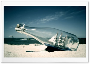 Ship In A Bottle HD Wide Wallpaper for Widescreen