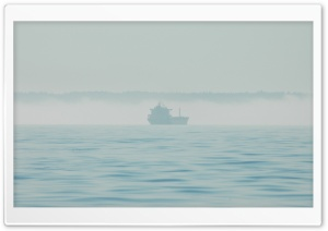 Ship in the Fog HD Wide Wallpaper for Widescreen