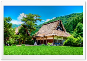 Shirakawago House HD Wide Wallpaper for Widescreen