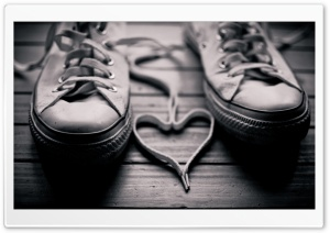 Shoelaces Heart HD Wide Wallpaper for Widescreen
