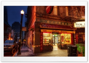 Shop In Chinatown HD Wide Wallpaper for Widescreen