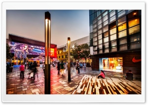 Shopping Area In Beijing HD Wide Wallpaper for Widescreen