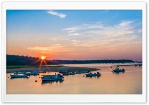 Shore at Sunset HD Wide Wallpaper for 4K UHD Widescreen desktop & smartphone