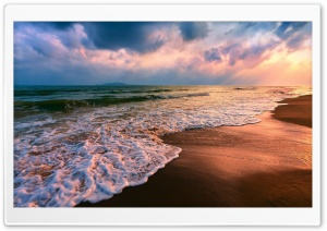 Shore Waves HD Wide Wallpaper for Widescreen