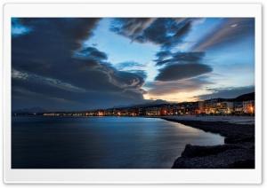 Shoreline At Night Ultra HD Wallpaper for 4K UHD Widescreen desktop, tablet & smartphone
