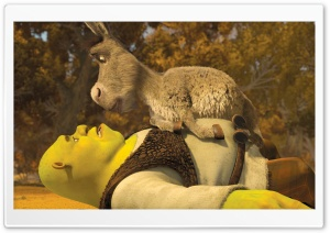 Shrek and Donkey HD Wide Wallpaper for 4K UHD Widescreen desktop & smartphone