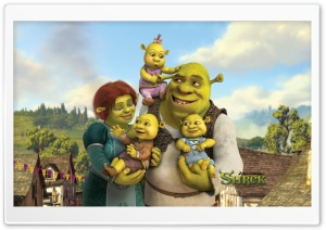Shrek And Fiona's Babies, Shrek The Final Chapter HD Wide Wallpaper for Widescreen