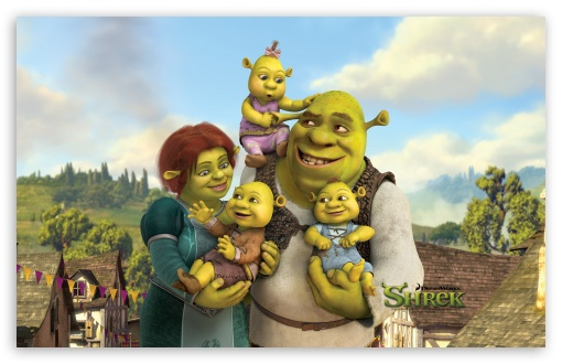 Shrek And Fiona s Babies  Shrek The Final Chapter wallpaperShrek 3 Fiona