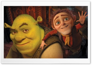 Shrek and Rumpelstiltskin, Shrek Forever After HD Wide Wallpaper for Widescreen
