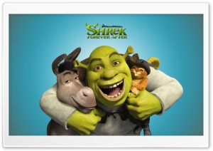 Shrek, Donkey and Puss in Boots, Shrek Forever After HD Wide Wallpaper for Widescreen