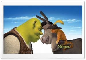 Shrek, Donkey And Puss, Shrek The Final Chapter HD Wide Wallpaper for Widescreen
