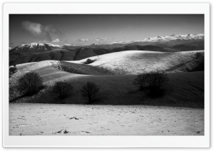 Sibillini Mountains Black and White Ultra HD Wallpaper for 4K UHD Widescreen desktop, tablet & smartphone