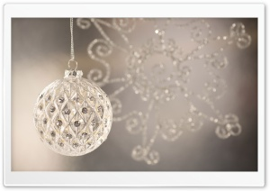 Silver Christmas Ball HD Wide Wallpaper for Widescreen