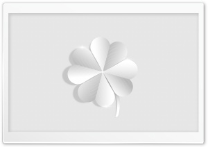 Silver Lucky Four Leaf Clover Ultra HD Wallpaper for 4K UHD Widescreen desktop, tablet & smartphone
