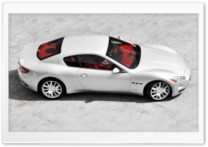 Silver Maserati HD Wide Wallpaper for Widescreen