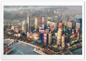 SimCity 2013 video game HD Wide Wallpaper for Widescreen