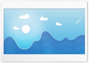 Simple Landscape Illustration Ultra HD Wallpaper for 4K UHD Widescreen desktop, tablet & smartphone