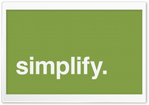 Simplify HD Wide Wallpaper for Widescreen