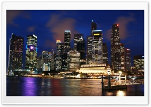 Singapore Skyline HD Wide Wallpaper for 4K UHD Widescreen desktop & smartphone
