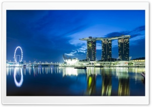 Singapore Skyline HD Wide Wallpaper for Widescreen
