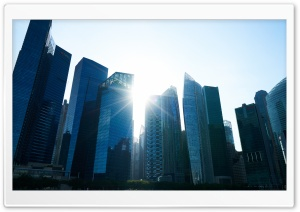 Singapore Skyscrapers HD Wide Wallpaper for Widescreen