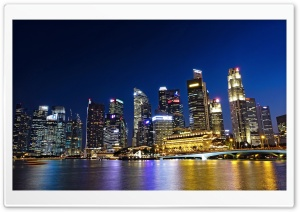 Singapore Waterfront HD Wide Wallpaper for Widescreen