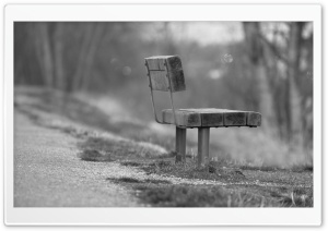 Single Bench HD Wide Wallpaper for Widescreen