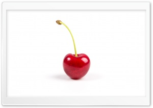 Single Red Cherry Fruit Ultra HD Wallpaper for 4K UHD Widescreen desktop, tablet & smartphone