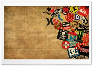 Skateboard Logos HD Wide Wallpaper for Widescreen