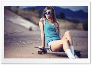 Skater Girl HD Wide Wallpaper for Widescreen