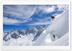 Skiing Ultra HD Wallpaper for 4K UHD Widescreen desktop, tablet & smartphone