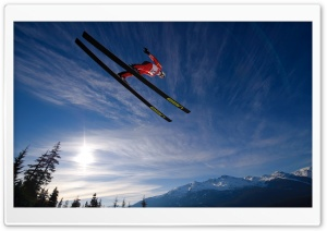 Skiing Jump Ultra HD Wallpaper for 4K UHD Widescreen desktop, tablet & smartphone