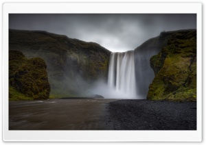 Skogafoss Waterfall HD Wide Wallpaper for 4K UHD Widescreen desktop & smartphone