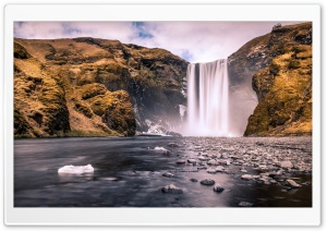 Skogafoss waterfall Long Exposure HD Wide Wallpaper for 4K UHD Widescreen desktop & smartphone