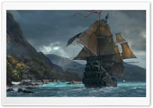 Skull and Bones game Concept Art HD Wide Wallpaper for Widescreen