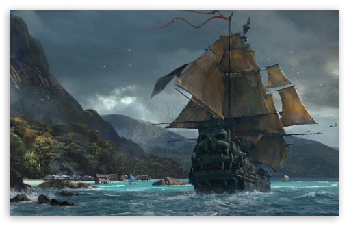 Download Skull and Bones game Concept Art HD Wallpaper