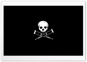 Skull Black HD Wide Wallpaper for Widescreen